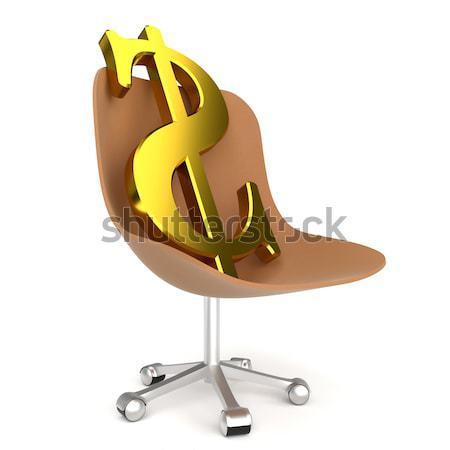 ポンド シンボル 事務椅子 白 ビジネス にログイン ストックフォト © dengess