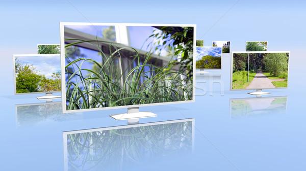 Group of LCD displays Stock photo © dengess