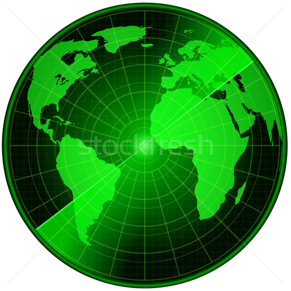 Abstrato radar terra mapa computador mundo Foto stock © dengess