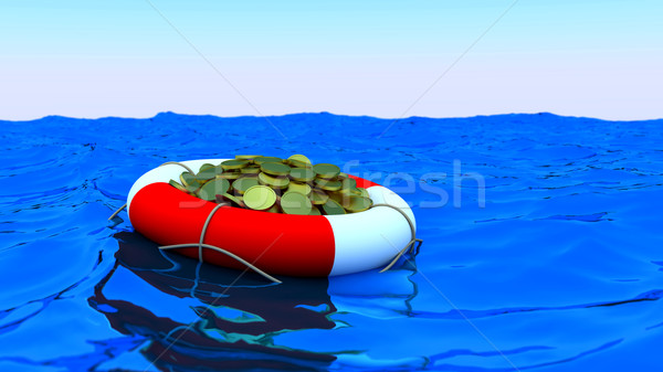 Bouy coins ocean Stock photo © dengess