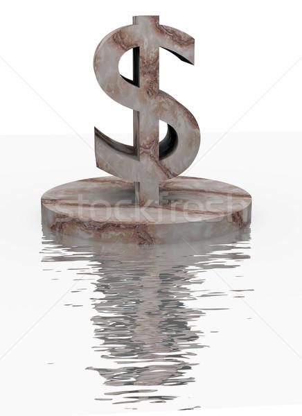 Marble dollar Stock photo © dengess