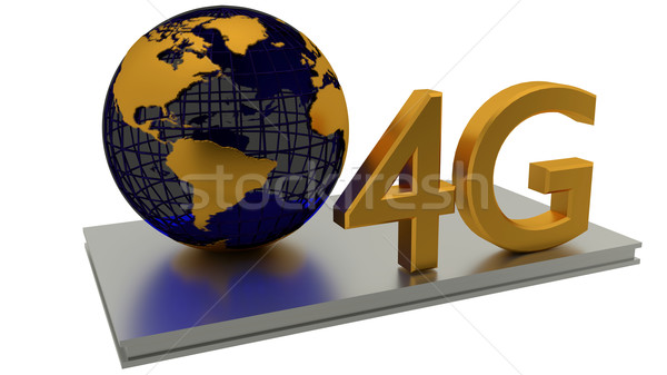 4g internet wereldwijde business verbinding abstract Stockfoto © dengess