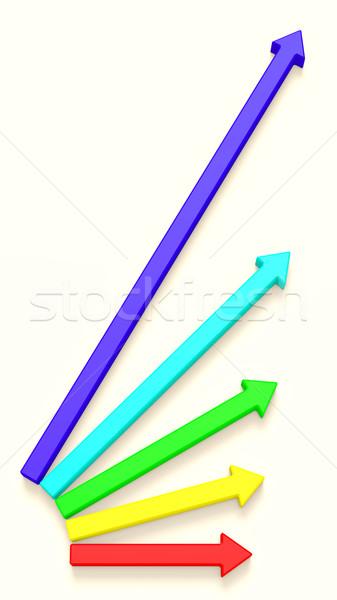 Resumen éxito flechas blanco negocios Foto stock © dengess