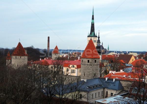 Landscape of the Old Tallinn Stock photo © dengess