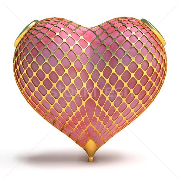 ювелирные любви сердце ювелир украшенный золото Сток-фото © dengess