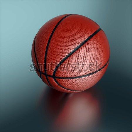 Basketbal donkere scène sport team Stockfoto © dengess