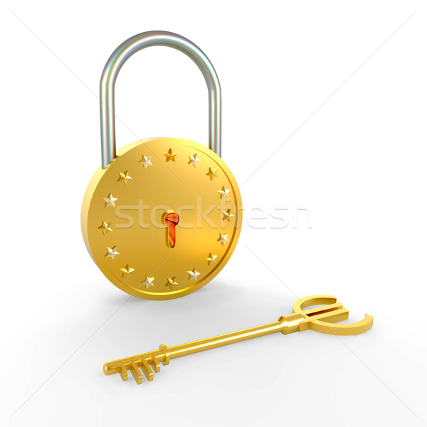 Lock and key Stock photo © dengess