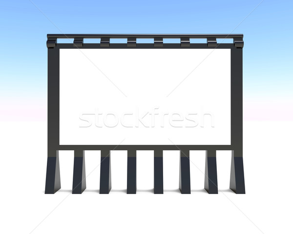 Blank advert billboard Stock photo © dengess