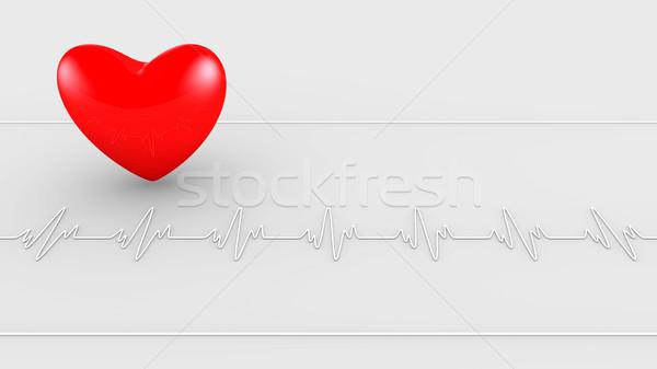Batimento cardíaco computador médico saúde segurança Foto stock © dengess