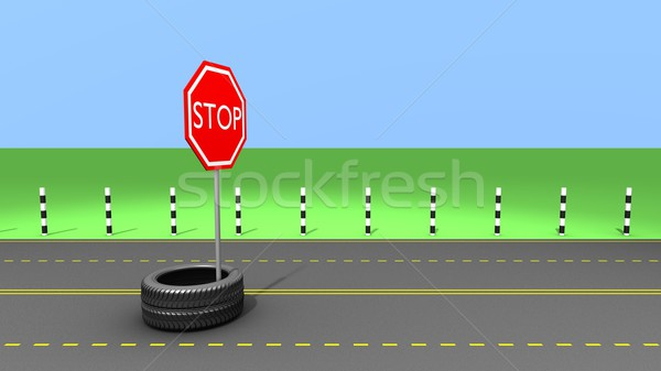 Stop on the way Stock photo © dengess
