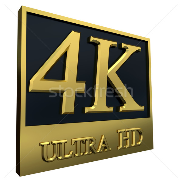 Ultra HD 4K icon Stock photo © dengess