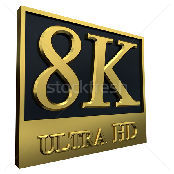 Ultra HD 8K icon Stock photo © dengess