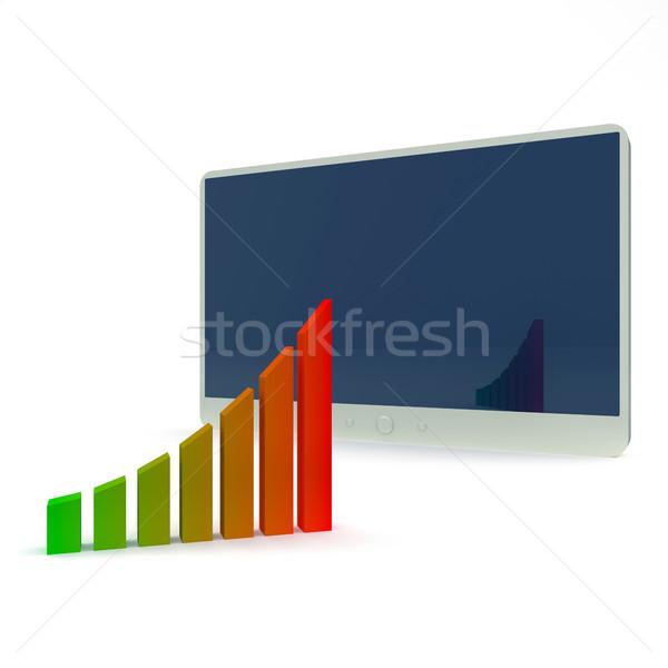 Tabla resumen negocios ordenador fondo Foto stock © dengess