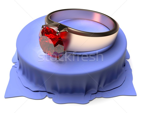 Gold Ring with ruby Stock photo © dengess