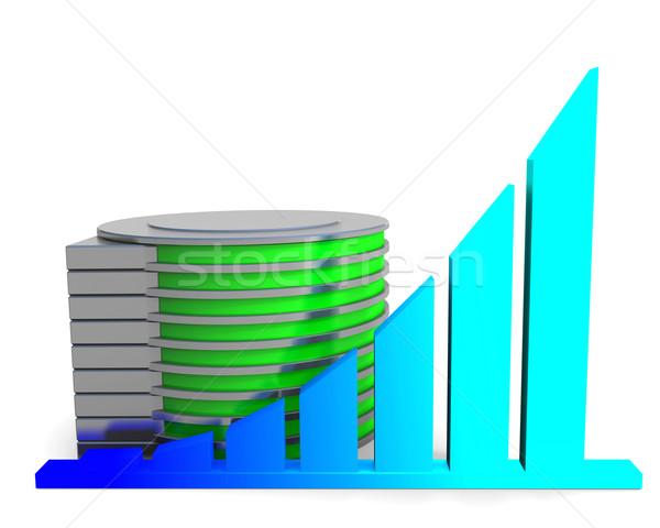 Stock fotó: Diagram · lemez · üzlet · szerver · hálózat · siker