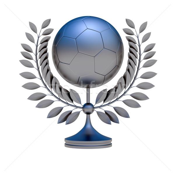 Ezüst futballabda bronz díj 3D tárgy Stock fotó © dengess