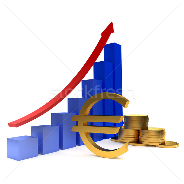 Diagram of golden coins Stock photo © dengess