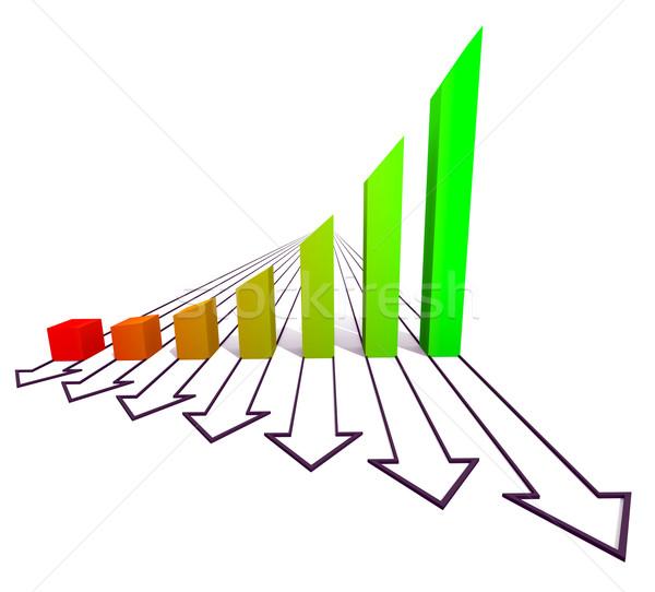 Arrowed business chart color Stock photo © dengess