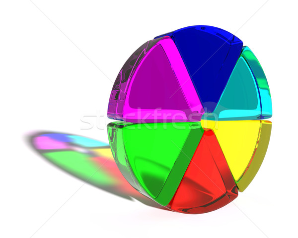 Abstract colored shape Stock photo © dengess