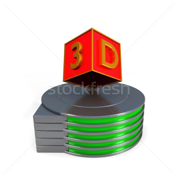 3D color cajas negocios Internet resumen Foto stock © dengess