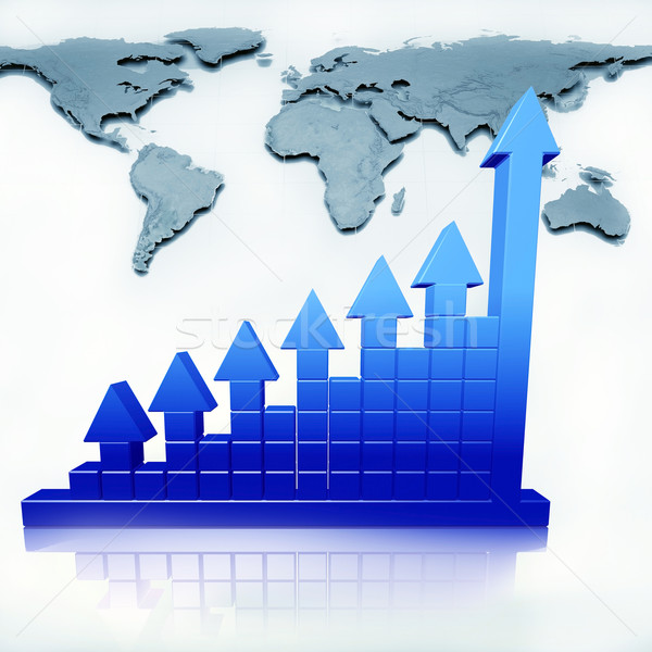 Business chart and map Stock photo © dengess