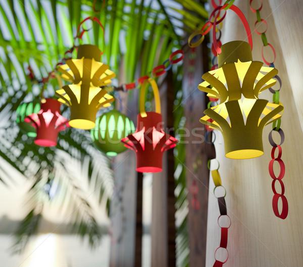 Decorações dentro férias celebração água árvore Foto stock © denisgo