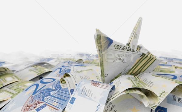 Foto stock: Buque · euros · papel · dinero · mar · foto