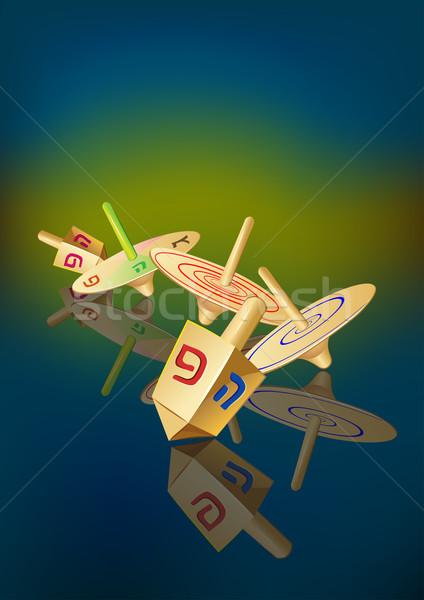 hanukkah traditional spinning tops Stock photo © denisgo