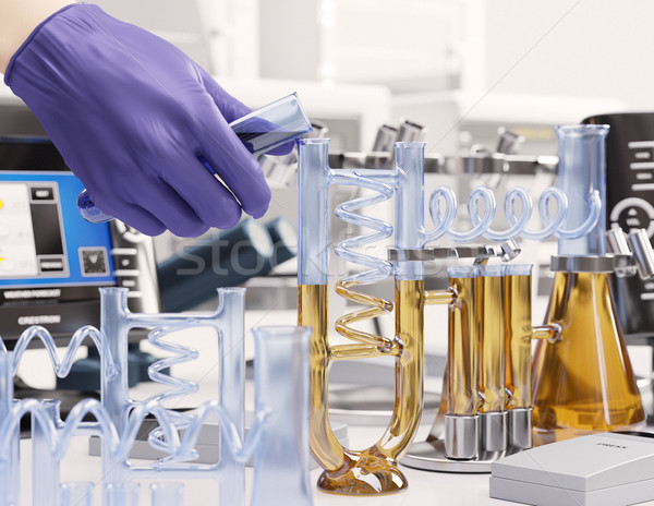 reaction testing in chemical laboratory science concept background Stock photo © denisgo