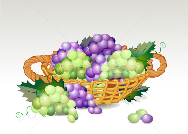 basket with grapes Stock photo © denisgo