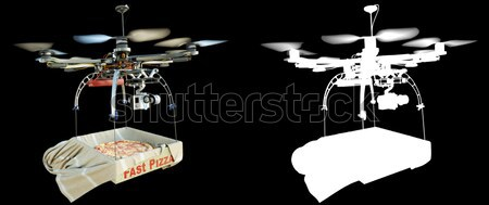 fast delivery with new technology concept photo with alpha illustration 3d render Stock photo © denisgo