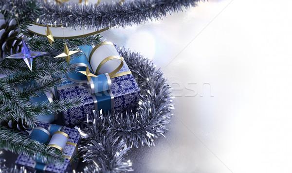 Feliz año nuevo alegre Navidad decorativo lugar texto Foto stock © denisgo