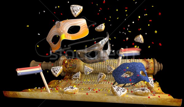 happy purim holiday, jewish traditional holiday background Stock photo © denisgo