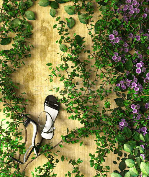 çiçekler bitkiler tatil satış ayakkabı doğa Stok fotoğraf © denisgo