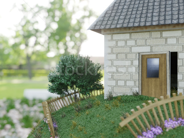 closeup, isolated, tree, move, meadow, model, forward, travel, business, concept, sign, buying, prop Stock photo © denisgo