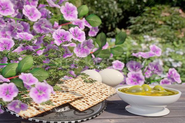 ünnepel zsidó húsvét virágok természet virág tavasz Stock fotó © denisgo