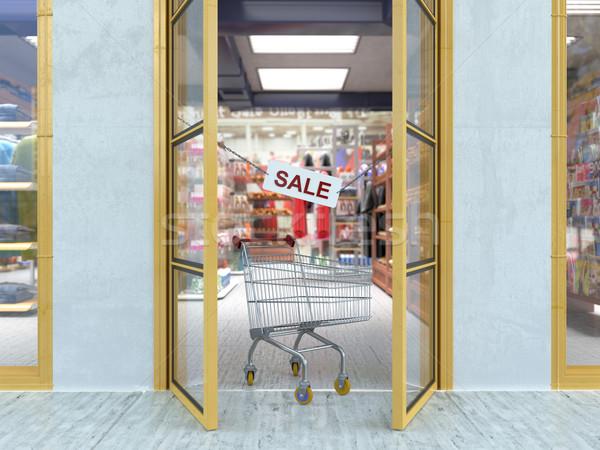 Alışveriş satış para mutlu moda Stok fotoğraf © denisgo