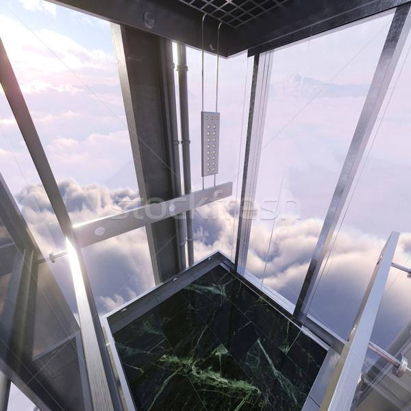 空 表示 空っぽ エレベーター ストックフォト © denisgo