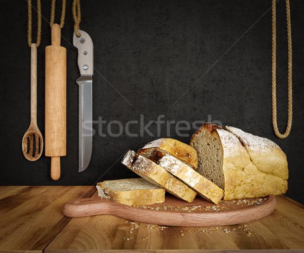 Taze ekmek yulaf fotoğraf Stok fotoğraf © denisgo