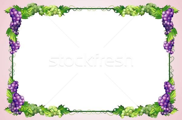 decorative grapes border Stock photo © denisgo