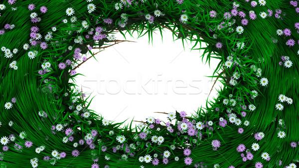 Сток-фото: украшенный · пасхальных · яиц · растений · цветы · весны · продовольствие