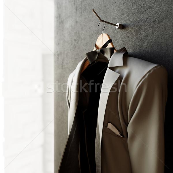 üzlet kabát mintázott fal fotó iroda Stock fotó © denisgo