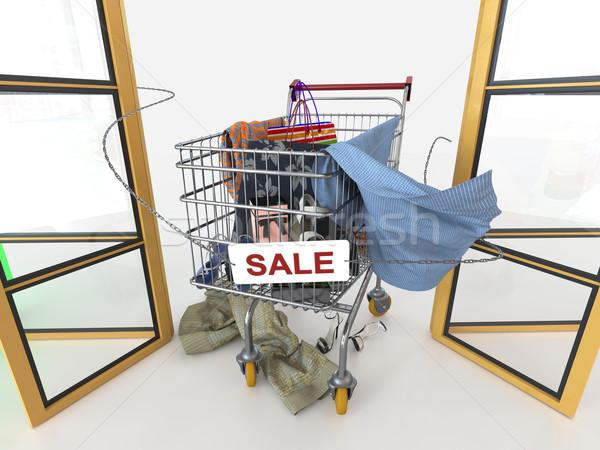Alışveriş satış beyaz para Stok fotoğraf © denisgo