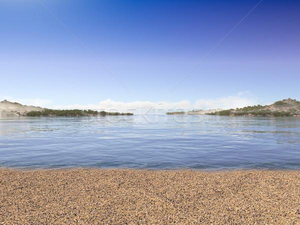 Vacaciones mar playa cielo feliz Foto stock © denisgo