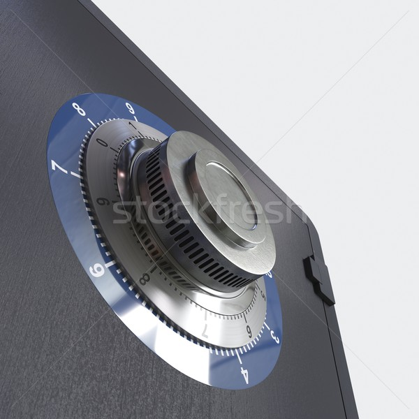 Close up of a safe lock conceptual image for security and business Stock photo © denisgo