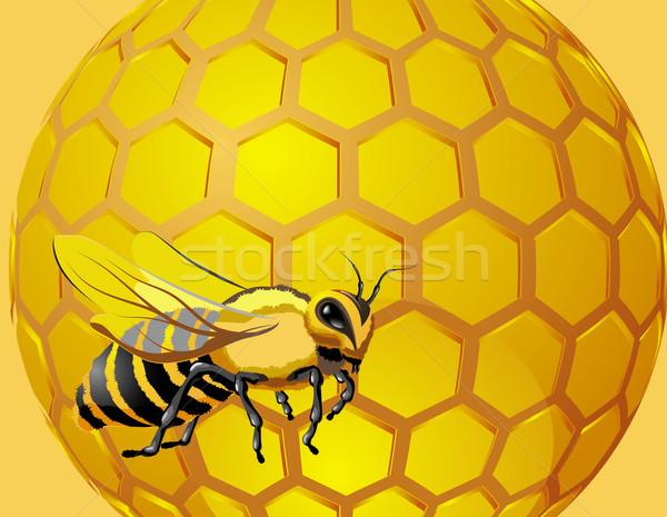 蜂 値下がり はちみつ ハニカム 六角形 ストックフォト © denisgo