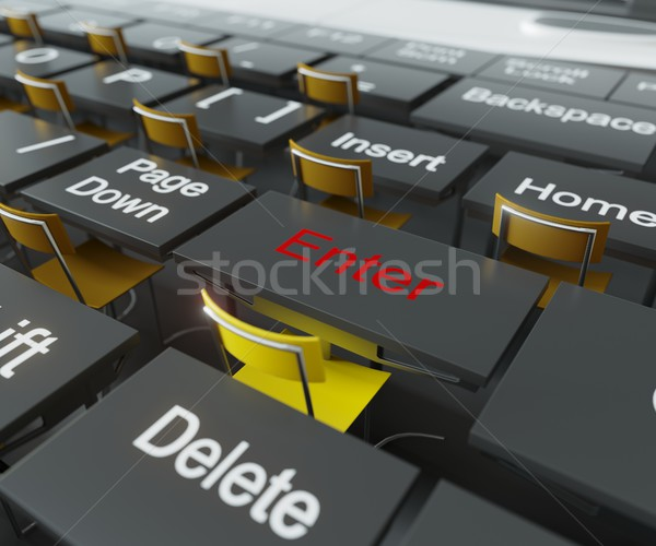 education and technology team work idea concept background Stock photo © denisgo