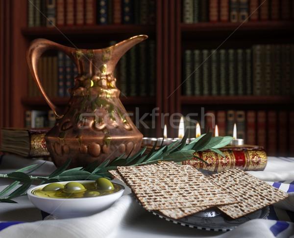 Célébrer Pâque livres olive printemps alimentaire Photo stock © denisgo