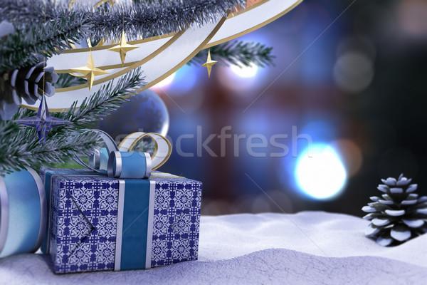 Foto stock: Feliz · año · nuevo · alegre · Navidad · decorativo · lugar · texto
