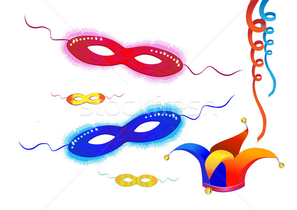 Festive vector elements carnival masks purim Stock photo © denisgo